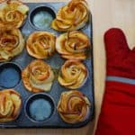 apple apricot rosettes fresh from oven